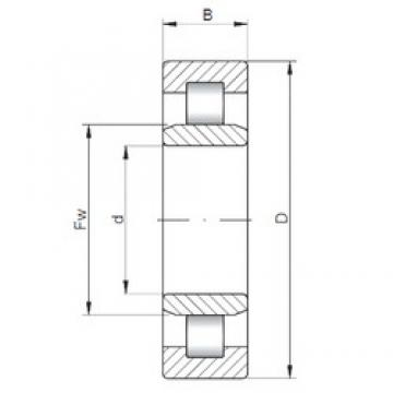 ISO NU3311 cylindrical roller bearings