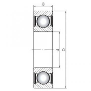 ISO 61909-2RS deep groove ball bearings
