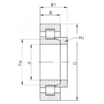ISO NH338 cylindrical roller bearings