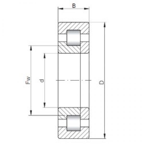 ISO NUP5212 cylindrical roller bearings #2 image
