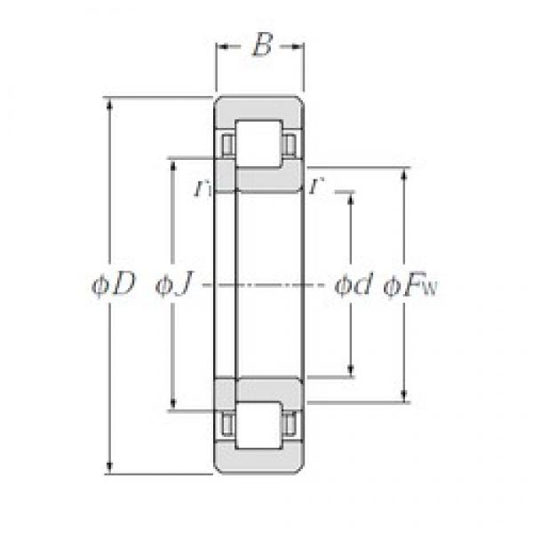 NTN NUP2209 cylindrical roller bearings #2 image